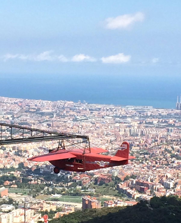 Plane-ride-Tibidabo-barcelona