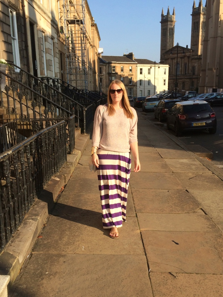 stripe-dress-sweater-glasgow-streetstyle