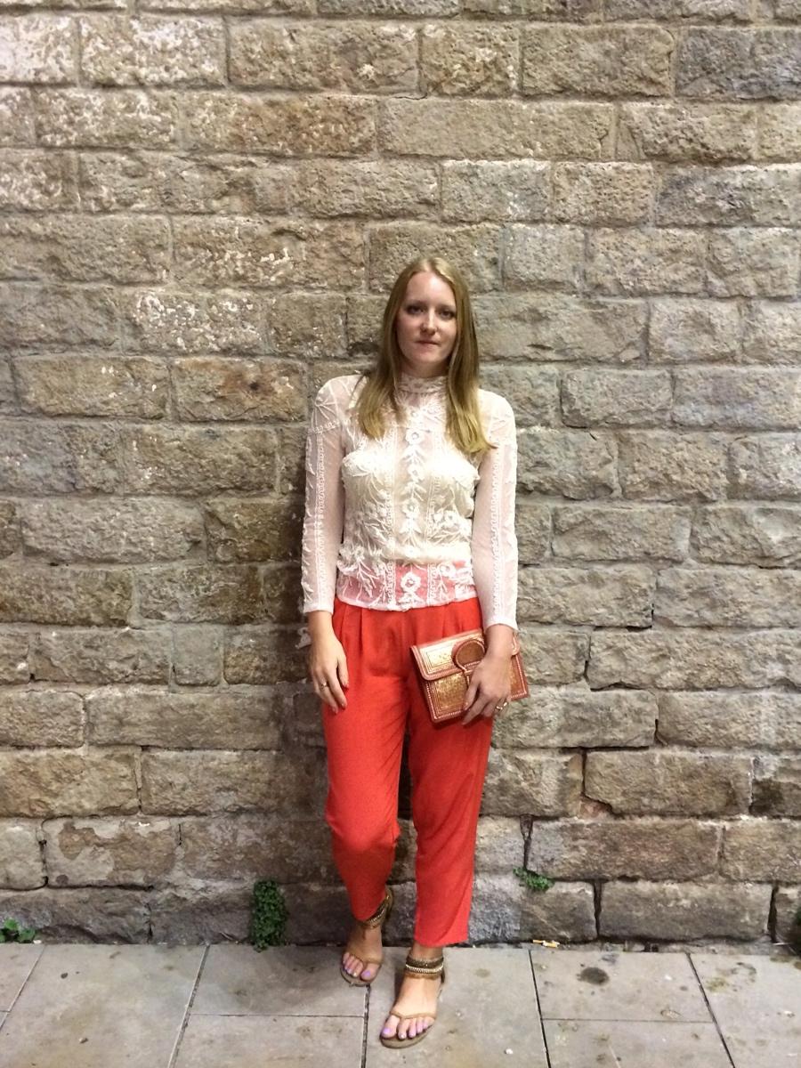 Lace-top-coral-harem-pants-gold