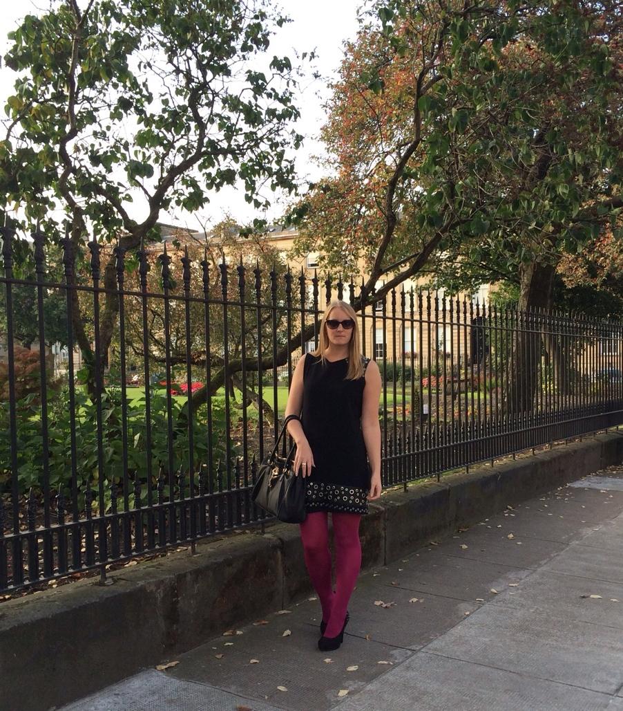 Pink-tights-mango-dress-Glasgow