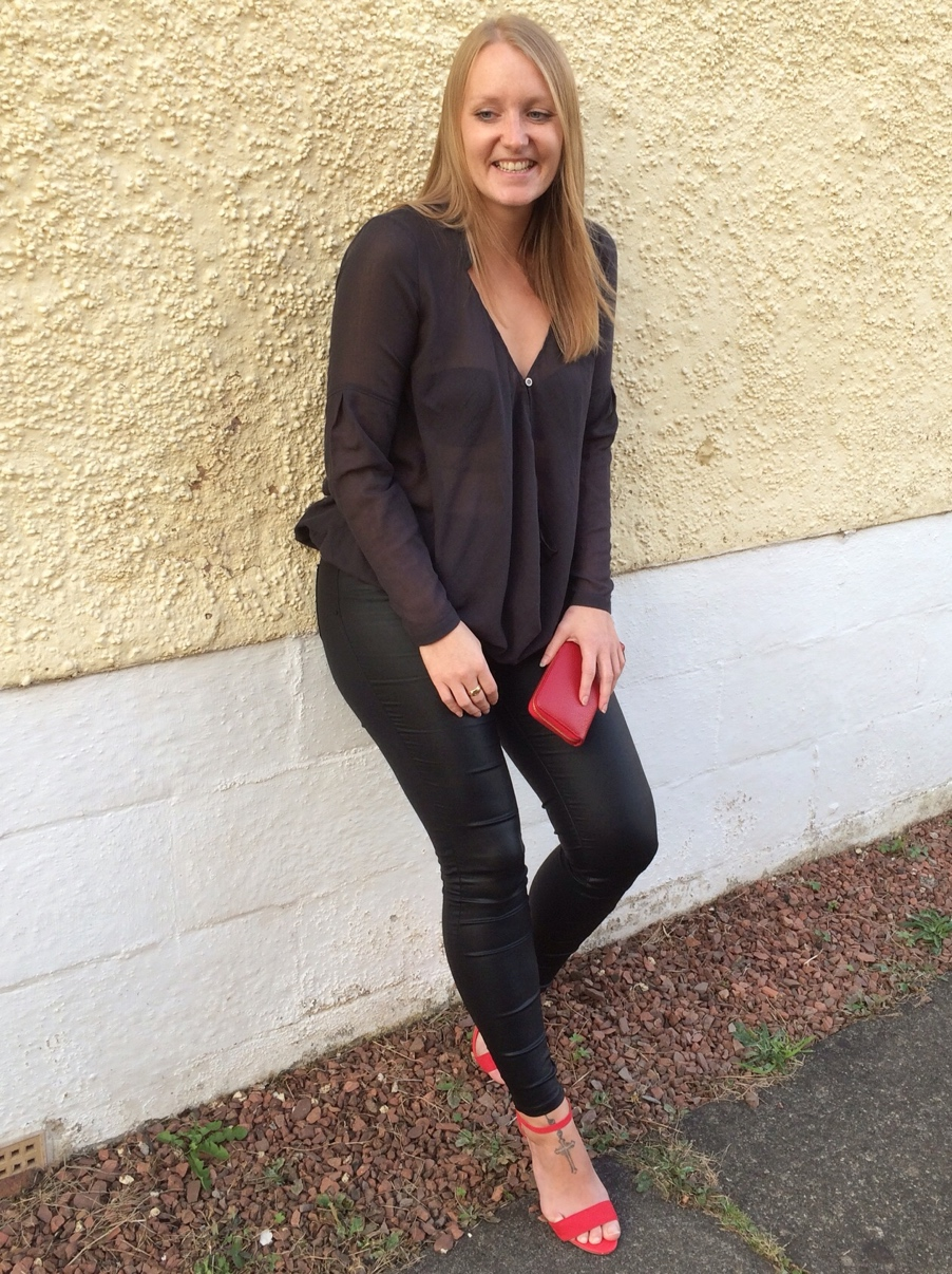 Waxed-quiz-clothing-jeans-red-heels-Glasgow