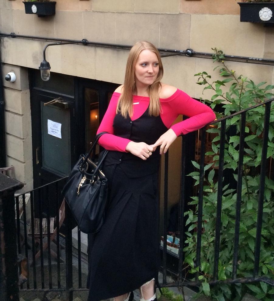 Off-shoulder-pink-waistcoat-Glasgow
