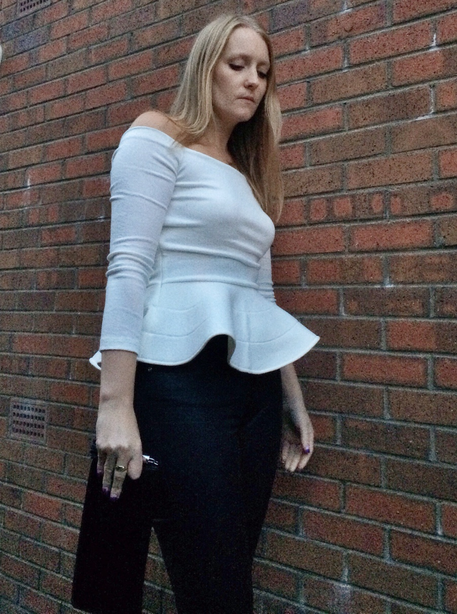 White-off-shoulder-peplum