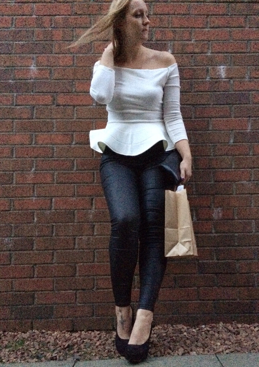 White-peplum-leather-look-jeans