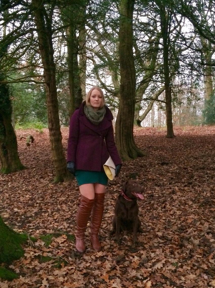 Aubergine-coat-OTK-boots-winter-outfit-labrador