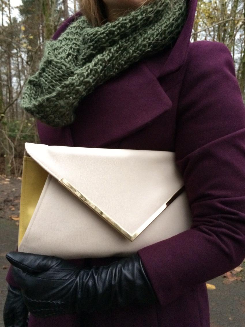 Aubergine-Debenhams-coat-leather-gloves-clutch