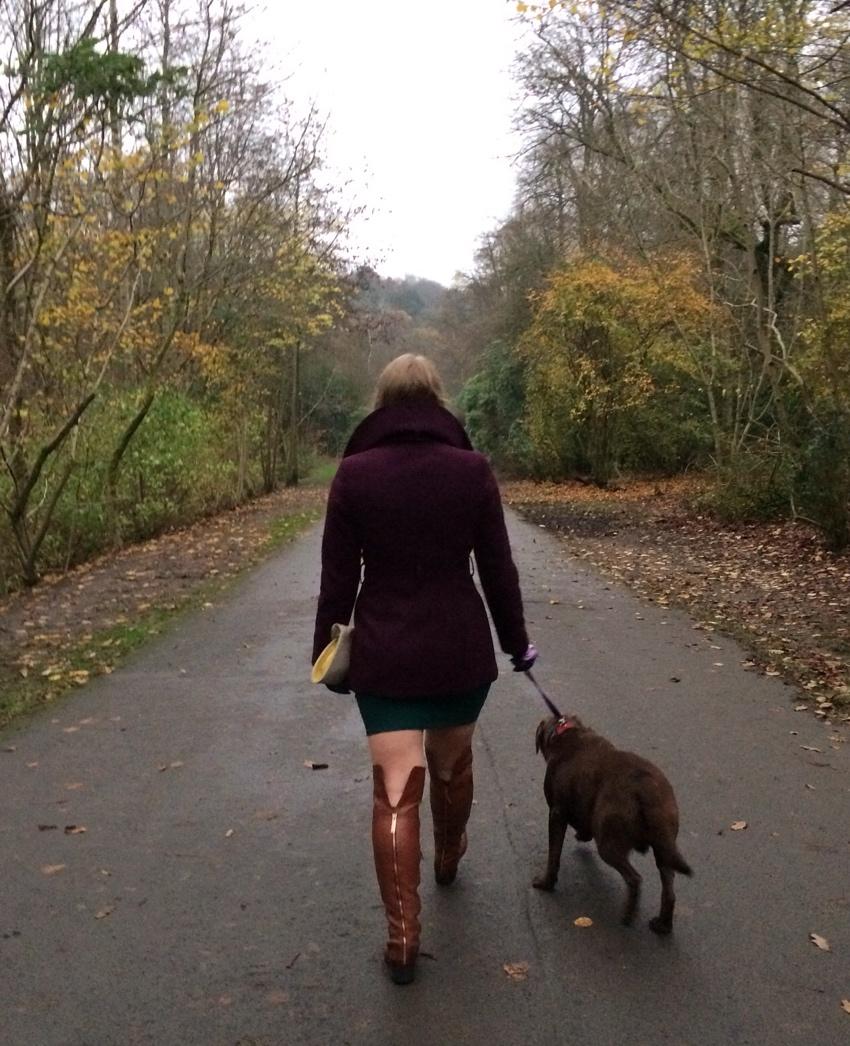 Aubergine-Debenhams-coat-OTK-boots-Labrador
