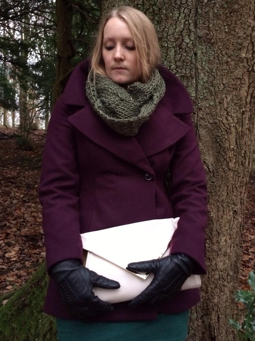 Aubergine-Debenhams-coat-snood-winter-ootd