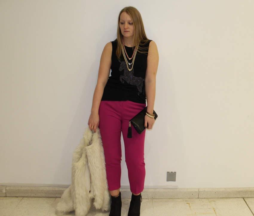 Asos-pink-trousers-Primark-faux-fur-gold