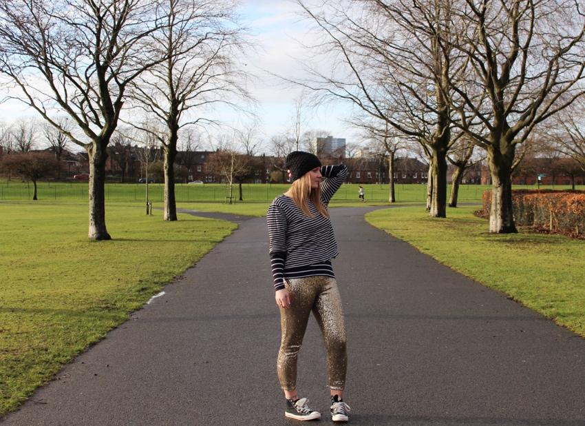 Sequin-leggings-stripes-converse-Glasgow