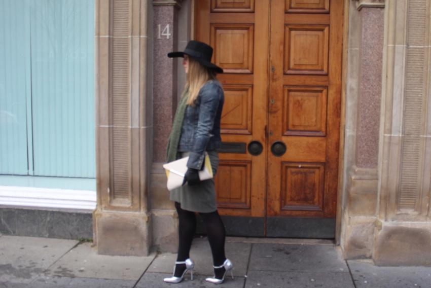 Wide-brimmed-hat-silver-heels-Glasgow-street-style
