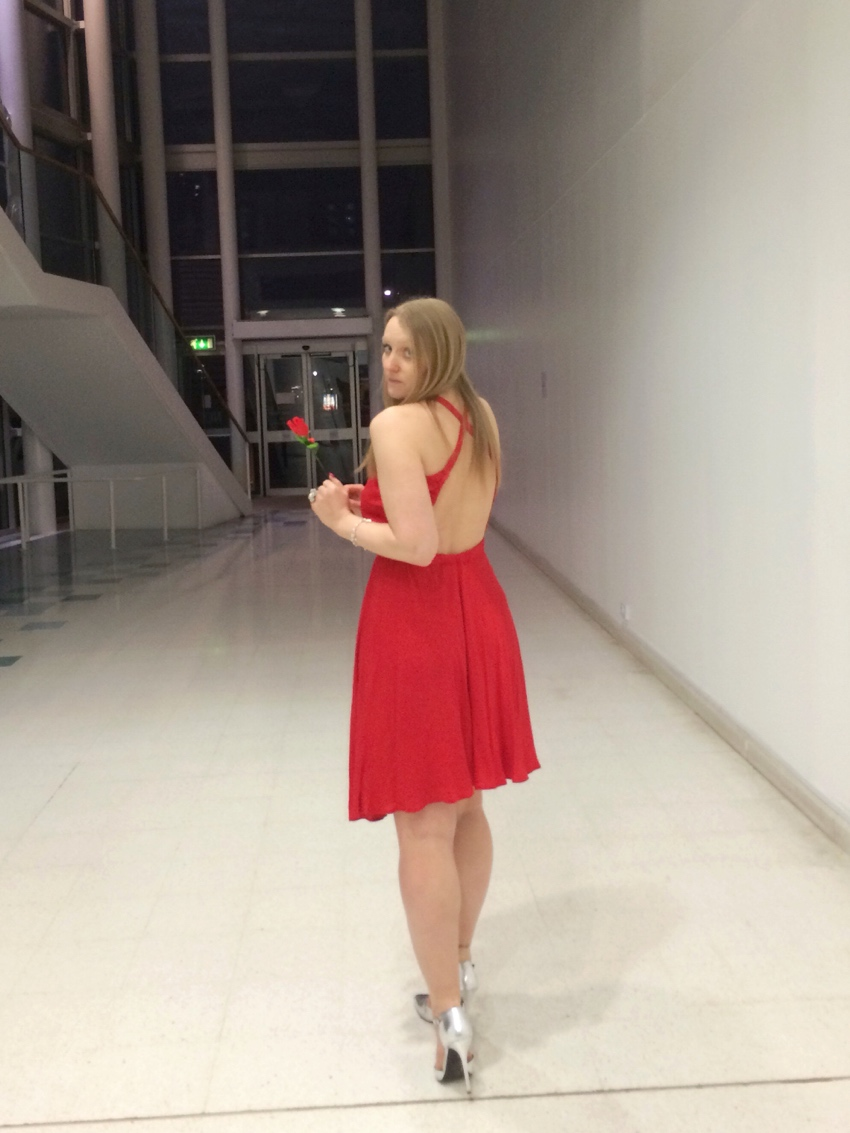 Red-backless-Calvin-Klein-dress-valentines-day-ideas