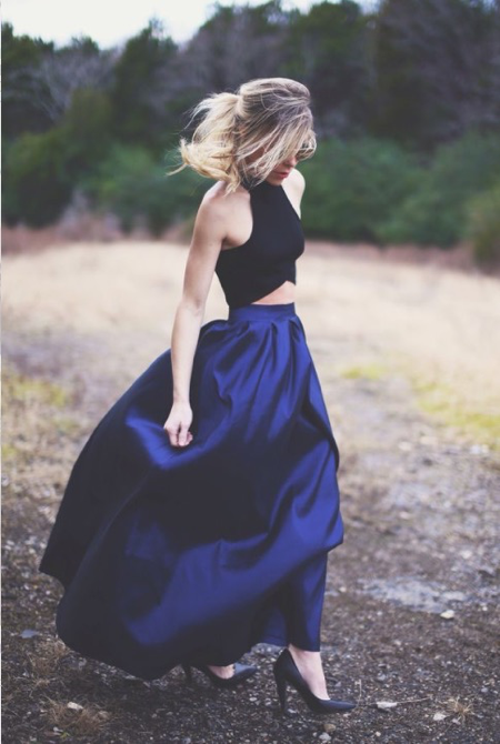 Pinterest-full-skirt-street-style-blue