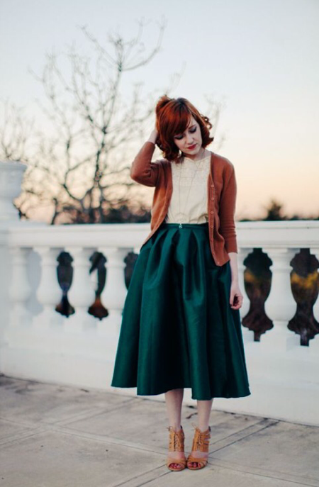 Pinterest-full-skirt-street-style