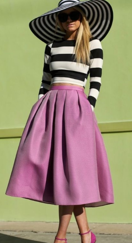 Pinterest-full-skirt-street-style-pink