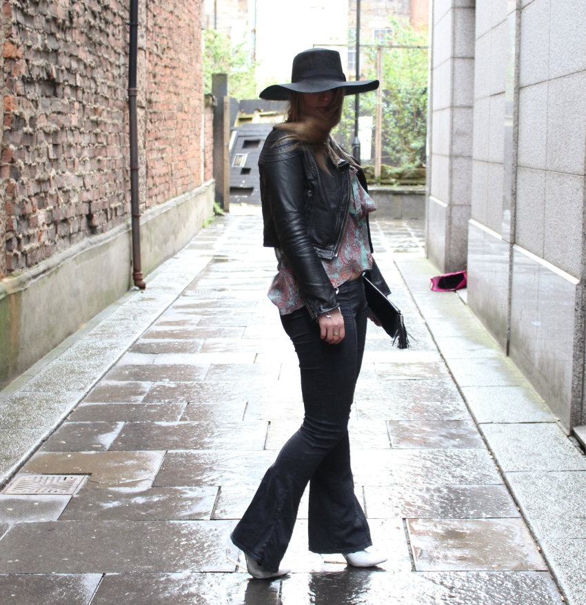 Seventies-street-style-flares-paisley-wide-brimmed-hat-Glasgow