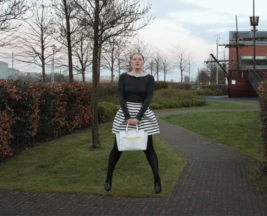 Stripe-full-skirt-tights-ankle-boots-glasgow-street-style