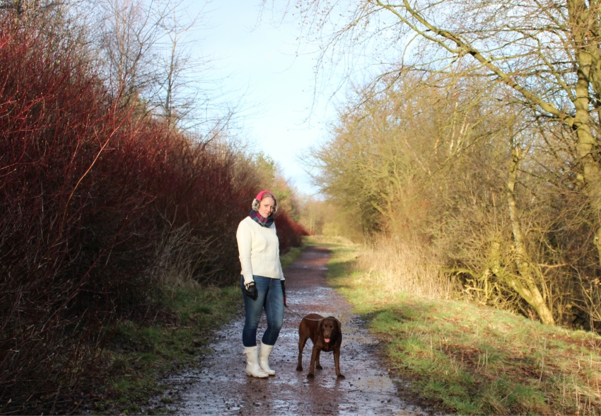 Spring-dog-walk-cable-knit-jeans-wellies-Glasgow