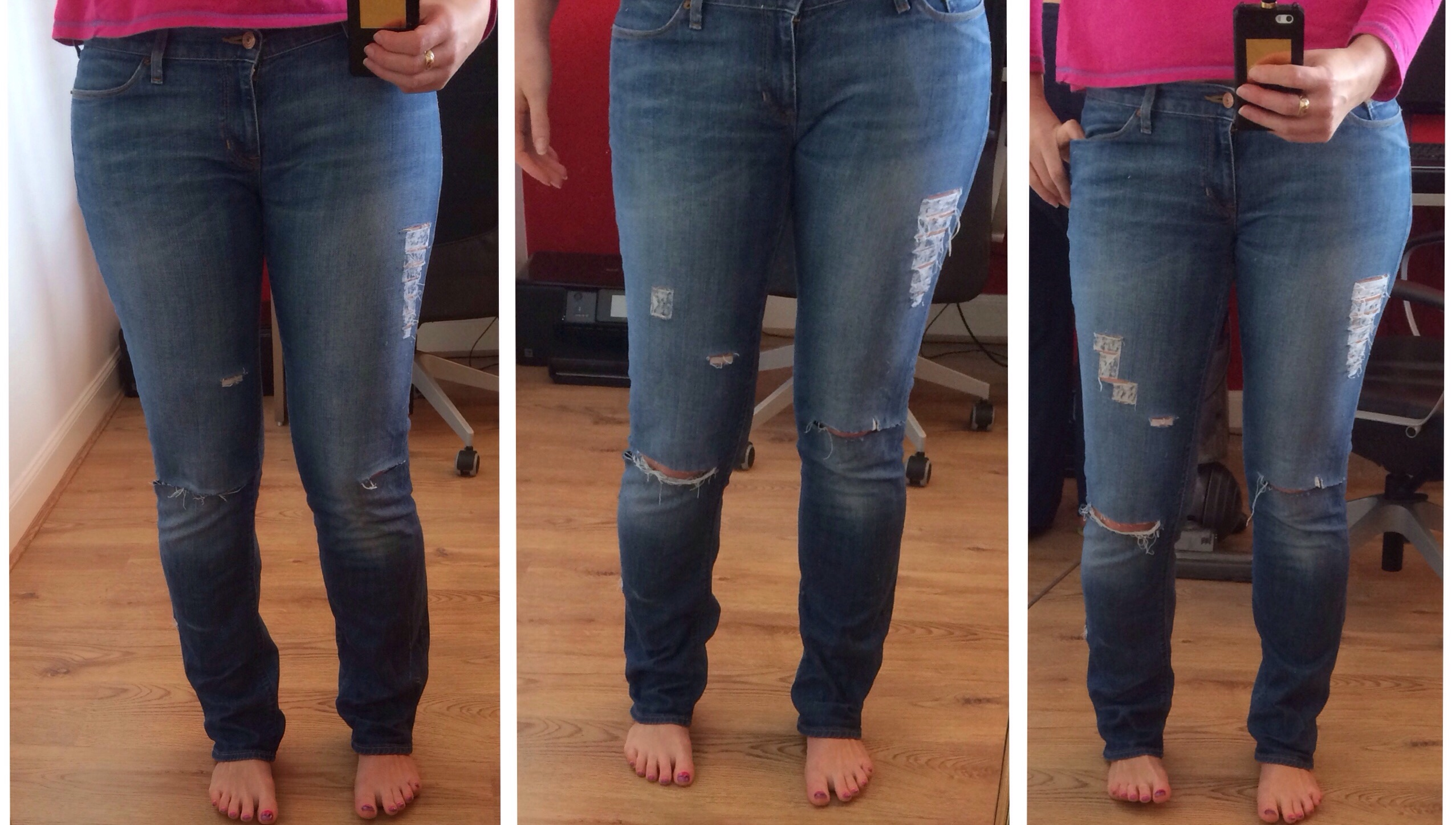 DIY Ripped Jeans Tutorial