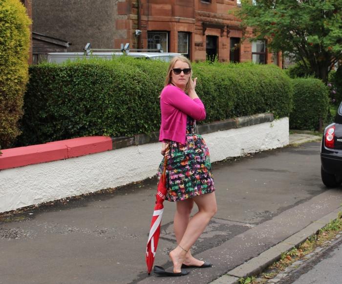 Yumi-30-days-of-summer-bright-striped-dress-street-style