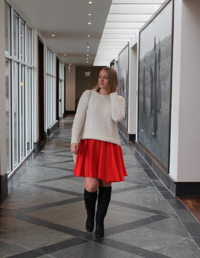 Red-dress-layered-otk-boots-street-style