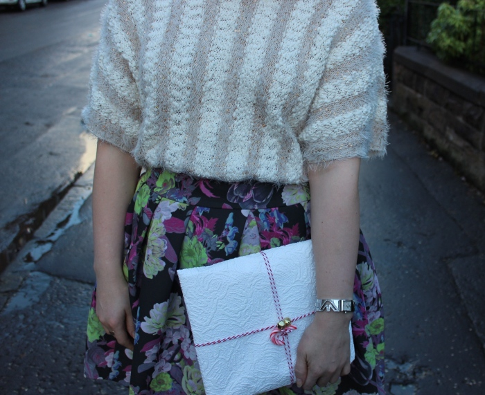 Full-floral-skirt-sparkle-jumper-Christmas-outfit