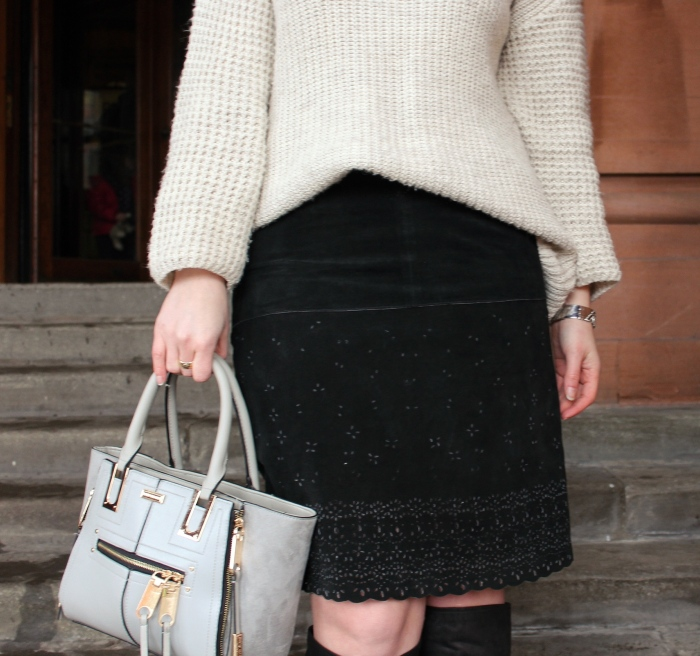 Vintage-suede-pencil-skirt-OTK-boots-oversized-sweater