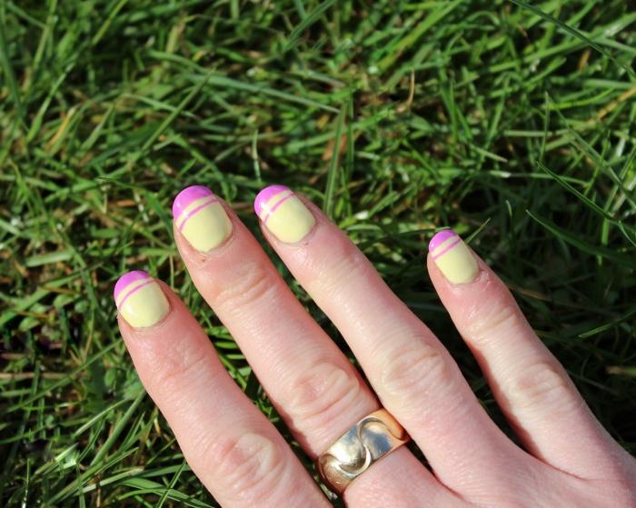 Pastel-yellow-pink-Spring-nail-art