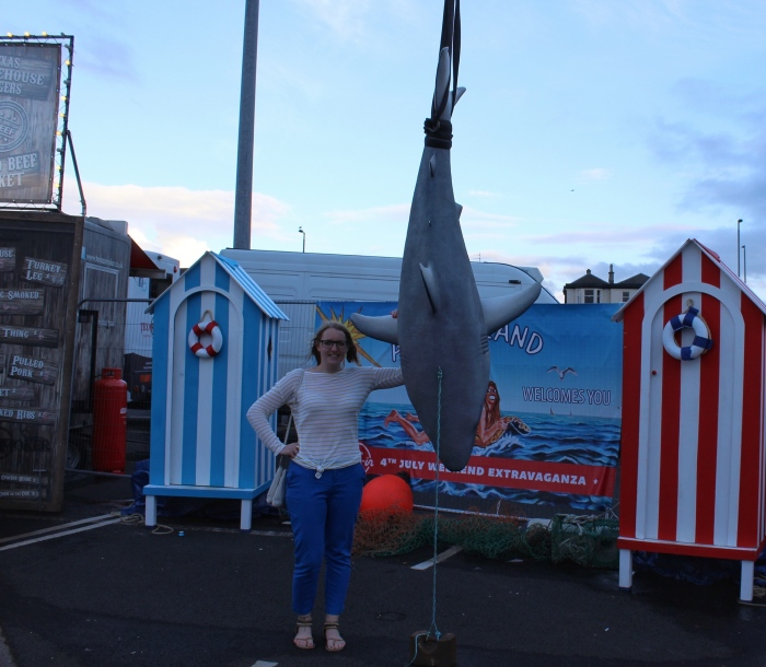 Drive-in-movie-jaws-Troon-beach-Scotland