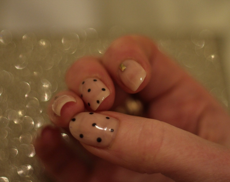 Living-in-a-boxx-nude-embellished-polka-dot-nail-art